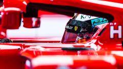 Test Hungaroring 2018, Kimi Raikkonen nell'abitacolo della sua Ferrari