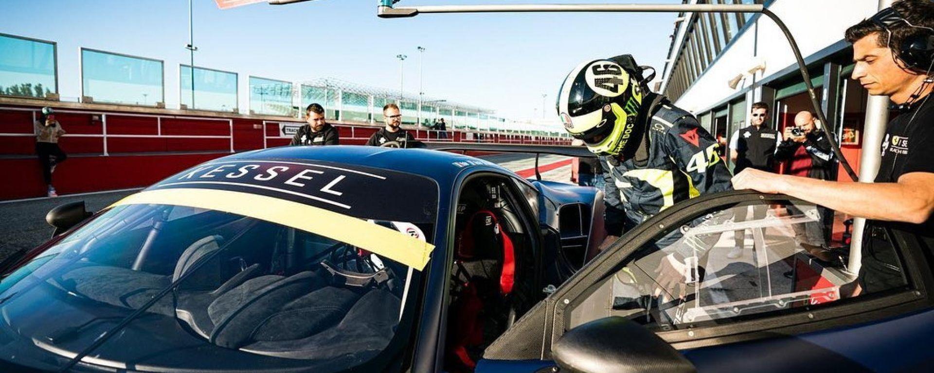 Test Misano 2019, Valentino Rossi, Ferrari 488 GT3 in preparazione della 12 ore del Golfo