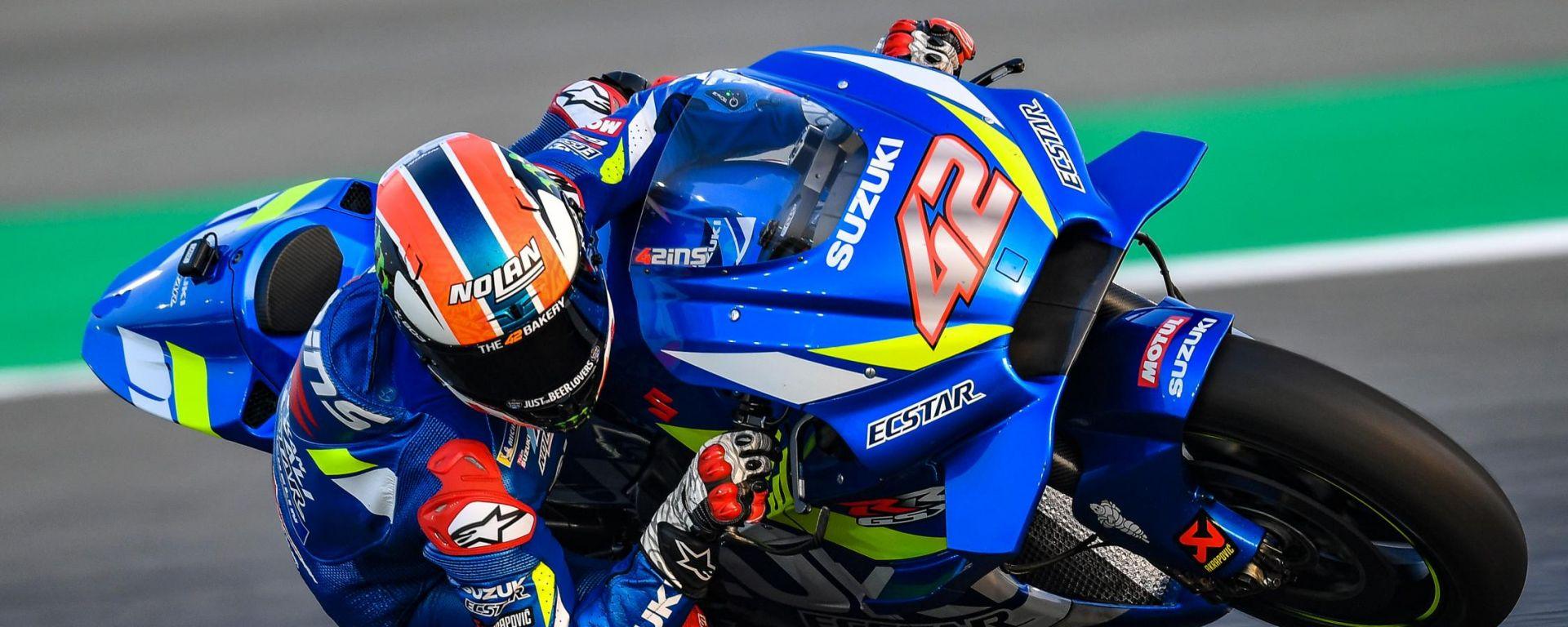 Test MotoGP Qatar, Alex Rins (Suzuki)
