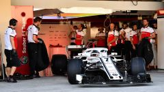 Test Pirelli Abu Dhabi 2018 - Kimi Raikkonen con la Sauber