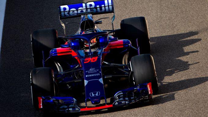 Test Pirelli Abu Dhabi 2018 - Sean Gelael con la Toro Rosso
