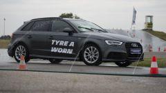 Test pneumatici usurati Michelin Audi A3 pista bagnata