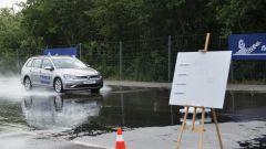 Test pneumatici usurati Michelin frenata Golf Variant