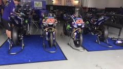 Test Sepang 2017, il box Yamaha Movistar
