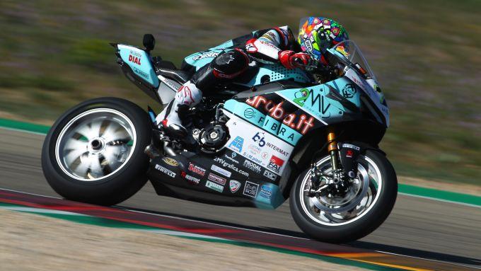 Test Superbike Aragon 2021, Chaz Davies (Ducati)