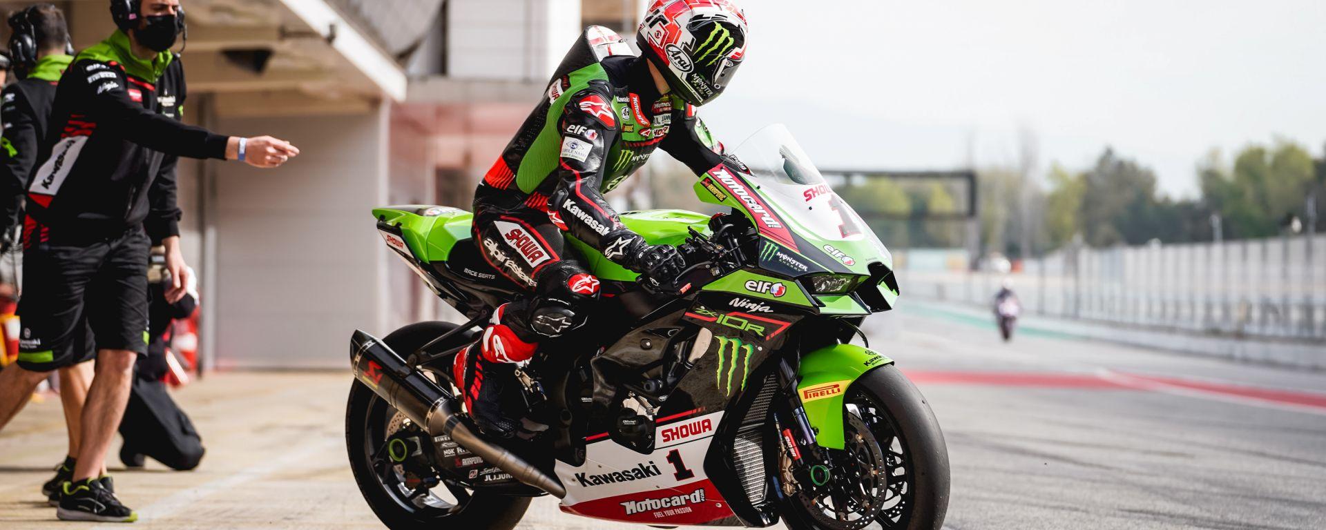 Test Superbike Barcellona 2021, Jonathan Rea (Kawasaki)