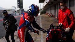Test Superbike Barcellona 2021, Leon Haslam (Honda)