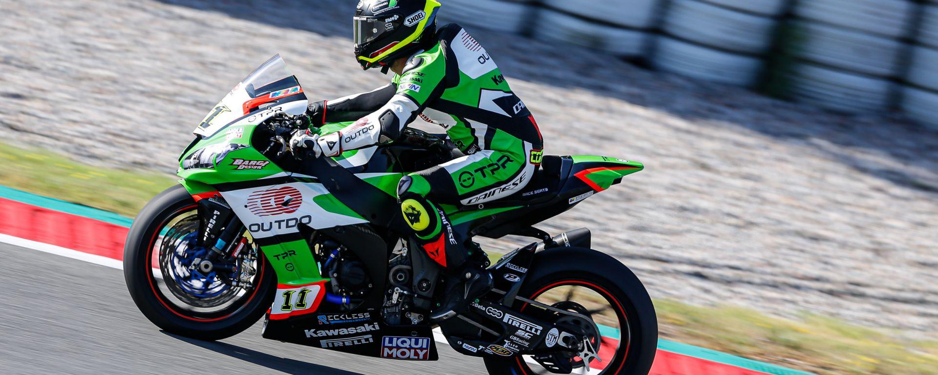 Test Superbike Barcellona, day1: Sandro Cortese (Kawasaki)