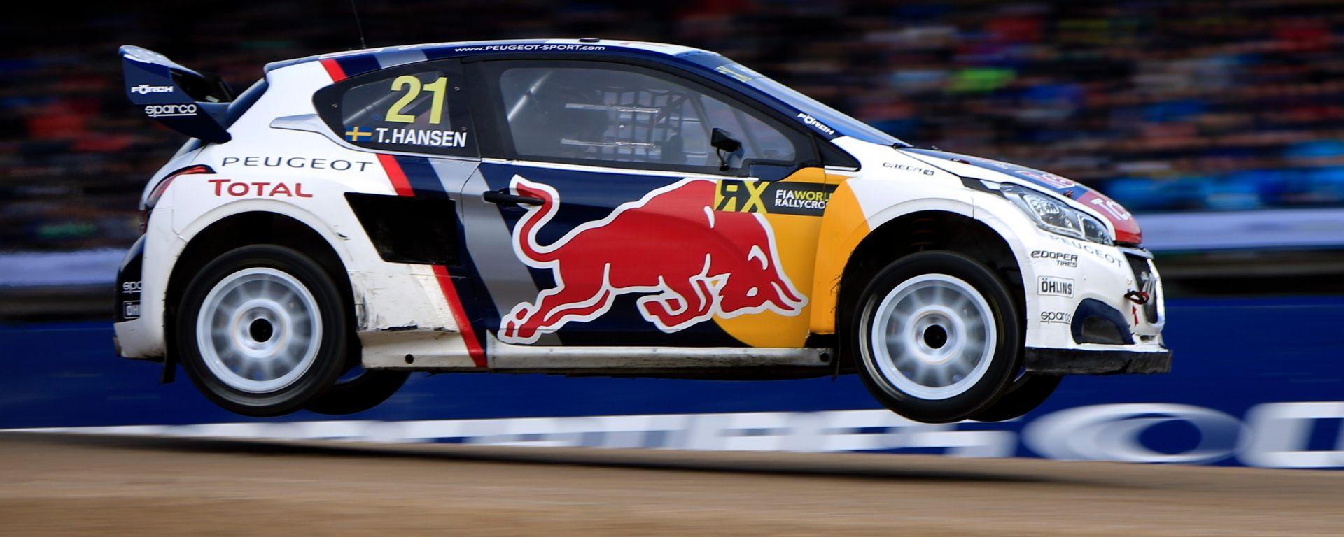 Timmy Hansen ha avuto un weekend difficile a Riga - Rallycross 2017