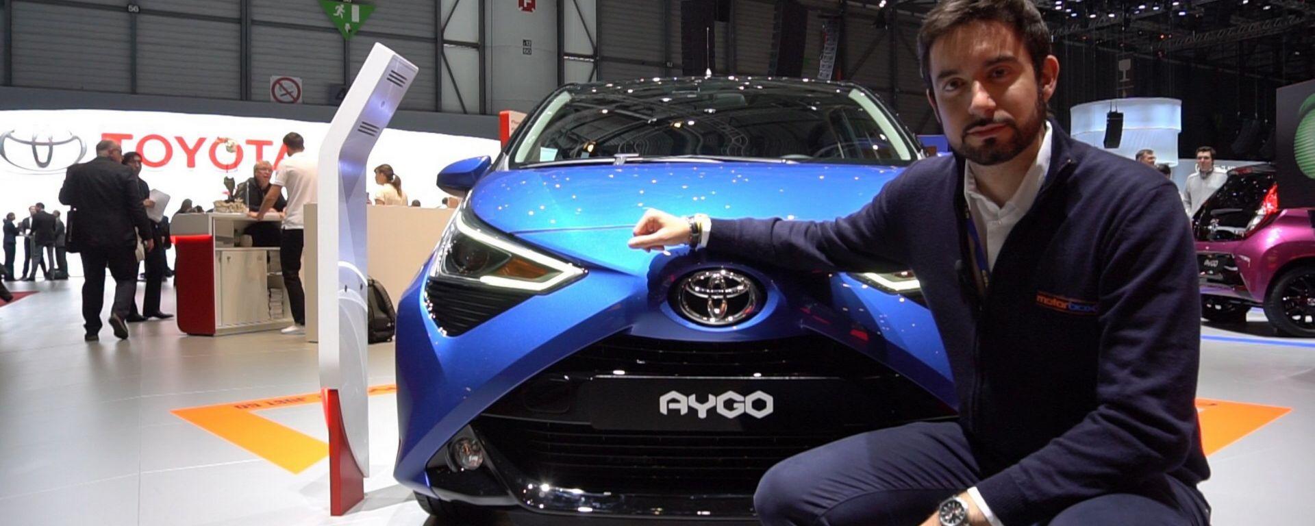 Nuova Toyota Aygo: in video dal Salone di Ginevra 2018