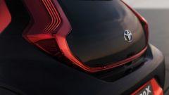 Toyota Aygo X Prologue: i proiettori posteriori a LED visti da vicino