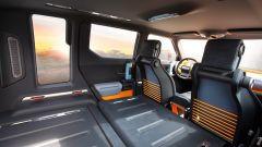 Toyota FT-4X concept, lo spazio dietro i sedili anteriori