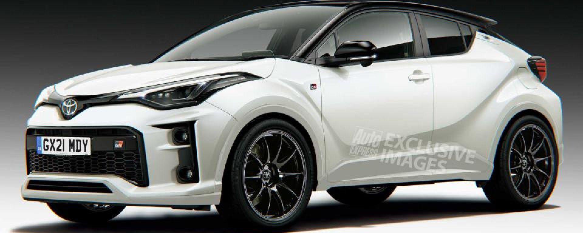 Toyota GR C-HR, il render di Avarvarii per Auto Express