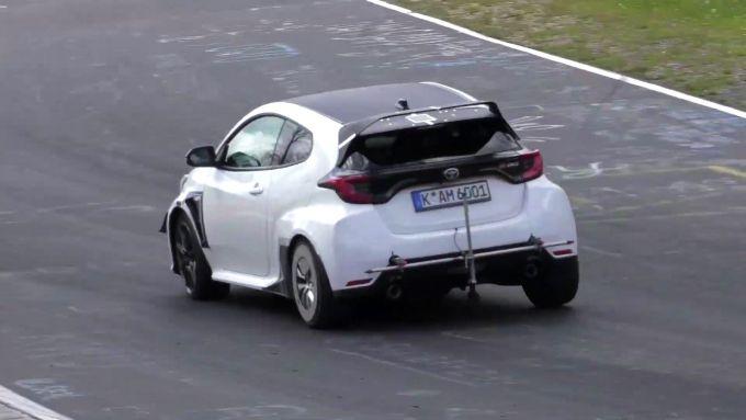 Toyota GR Yaris 2022 (forse), vista posteriore