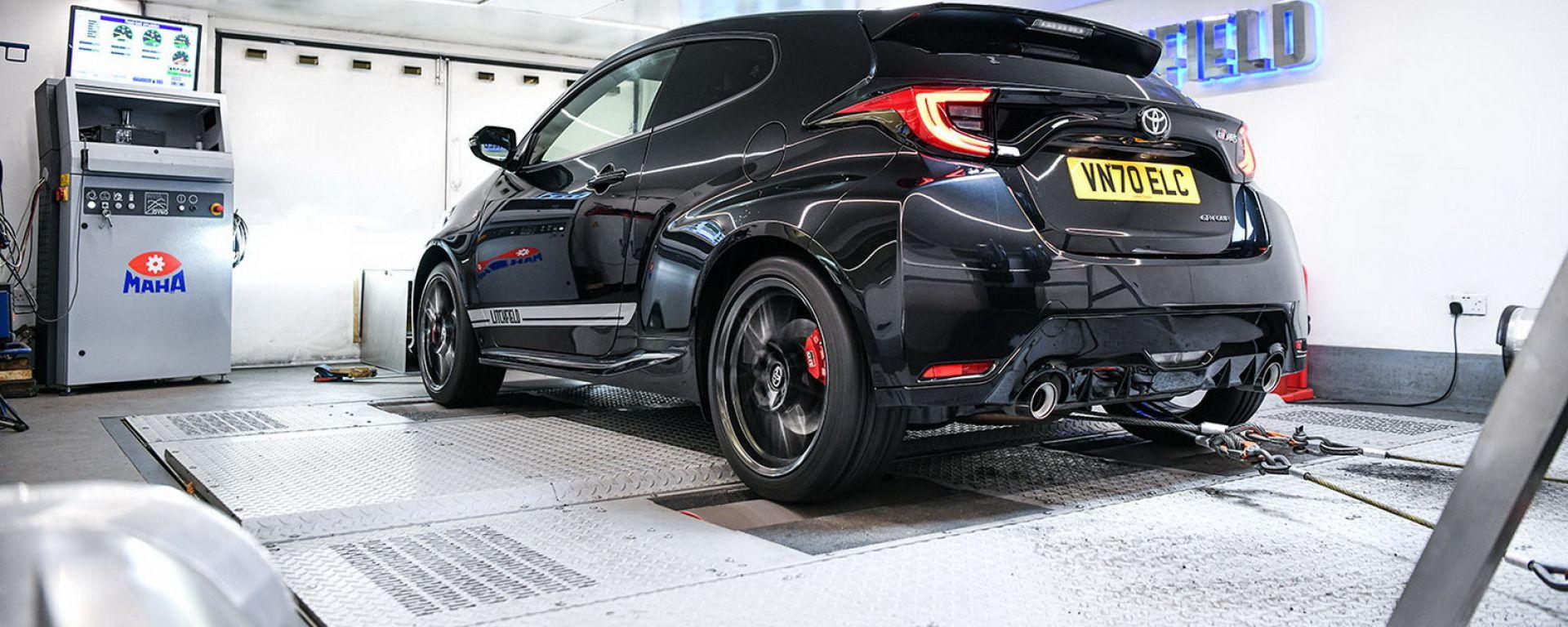 Toyota GR Yaris by Litchfield: 300 CV sul banco a rulli accelerativo