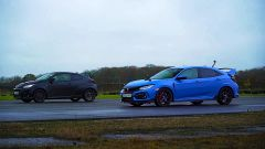 Toyota GR Yaris e Honda Civic Type-R prima della sfida