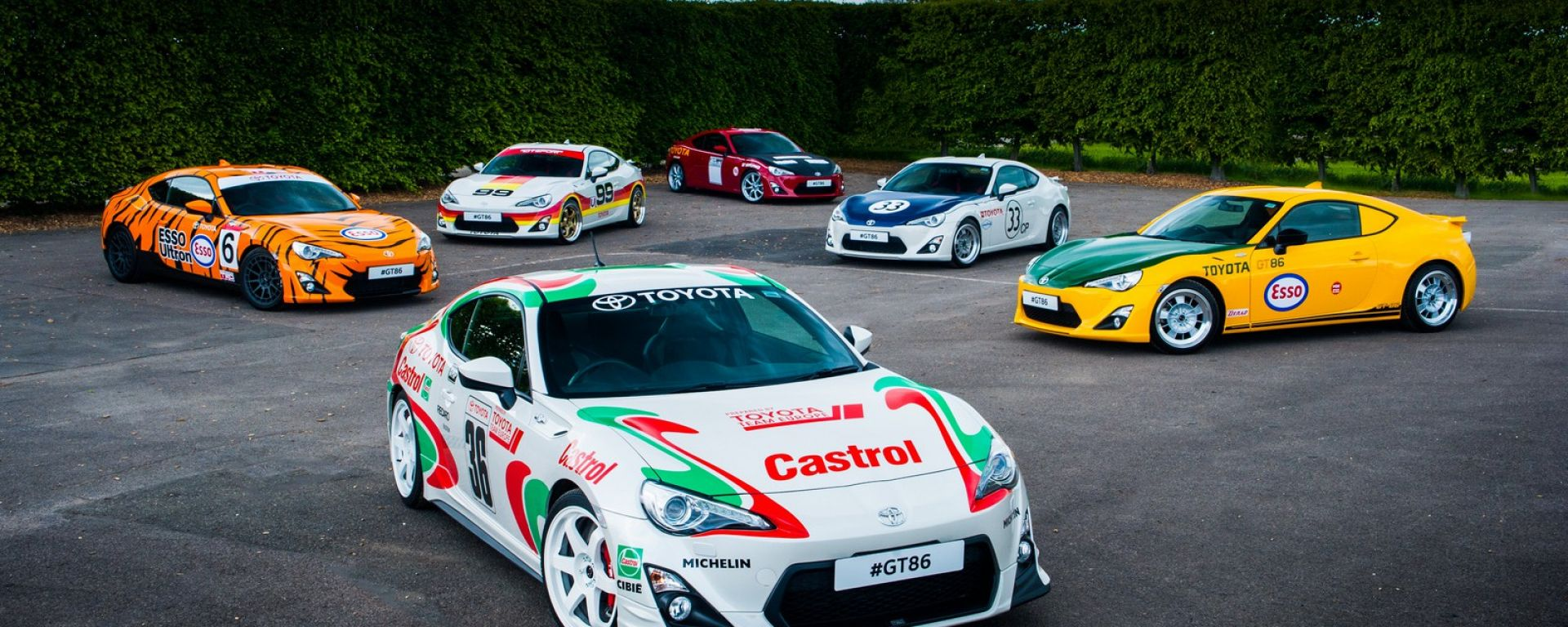 Toyota GT86 Heritage Racing Liveries