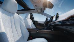 Toyota Mirai 2021: interni, l'abitacolo anteriore