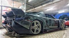 Toyota MR2s replica Lamborghini Veneno Roadster 3/4 posteriore