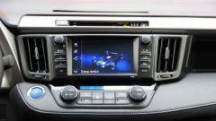 Toyota RAV4 Hybrid: il monitor touch da 7 pollici per gestire il sistema di infotainment Toyota Touch 2