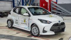 Toyota Yaris 2020, i danni dell'impatto laterale