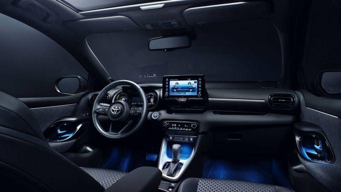 Toyota Yaris 2020, uno sguardo sugli interni
