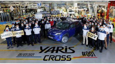 Toyota Yaris Cross, la produzione va avanti ma...