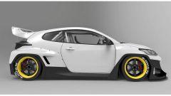 Toyota Yaris GR: il kit Rocket Bunny la rende un'auto da corsa in tutto e per tutto