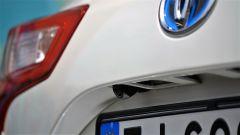 Toyota Yaris Hybrid 2017: dettaglio della telecamera di retromarcia