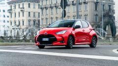 Toyota Yaris Hybrid 2020, un momento della prova su strada