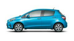 Toyota Yaris: il restyling non apporta alcun ritocco nella fiancata