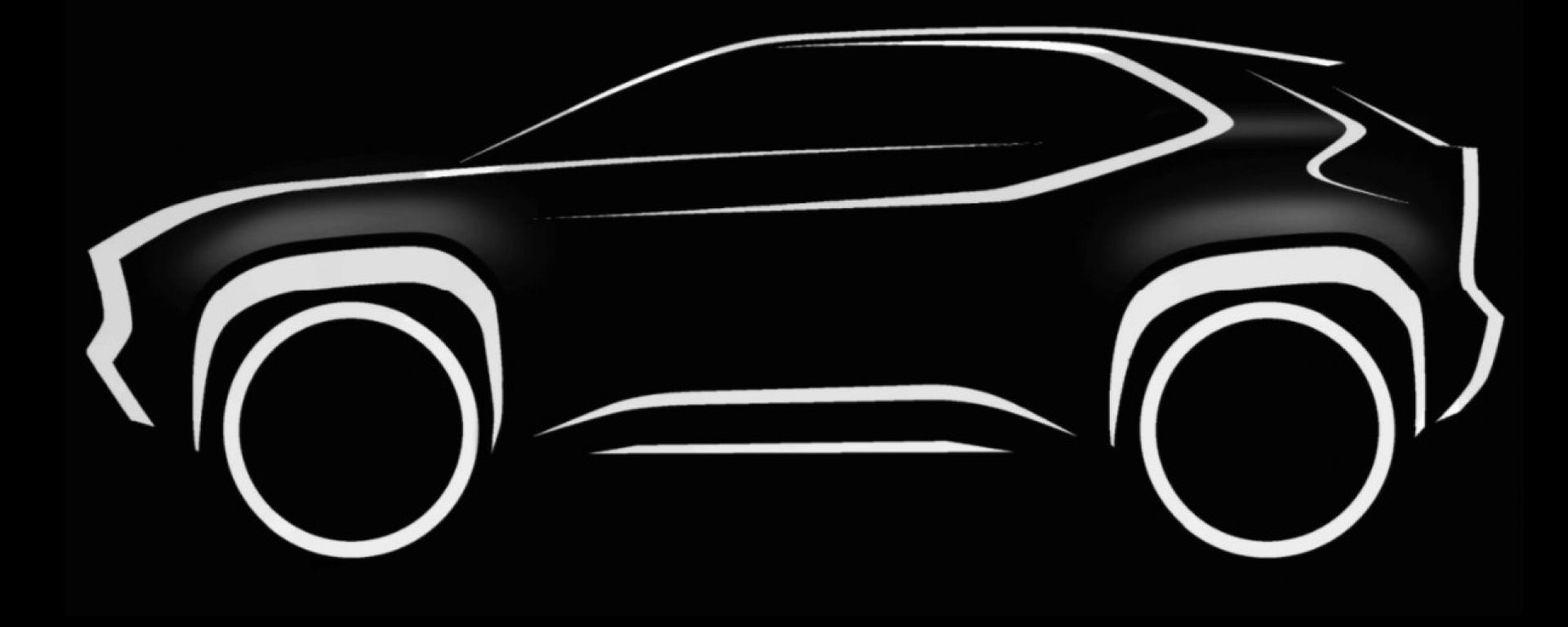 Toyota Yaris Suv, la sagoma sarà (più o meno) così