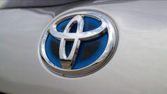 Toyota Yaris Y20: dettaglio logo Toyota
