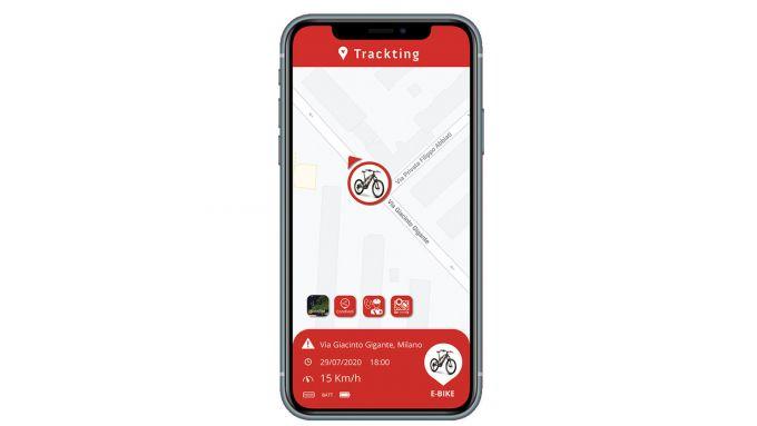 Trackting Evo: la schermata di allarme