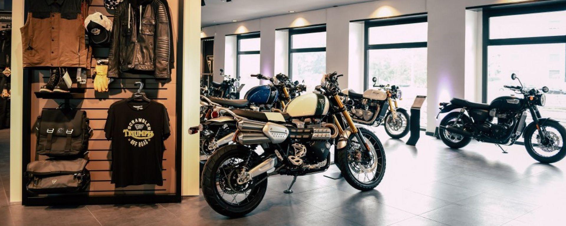 Triumph: a Milano apre lo Store dei record