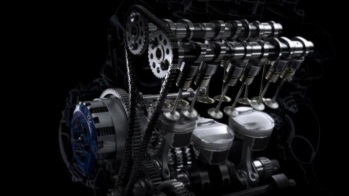 Motore 765 cc della Daytona
