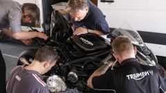 Triumph Daytona 765: un momento dei test Moto2