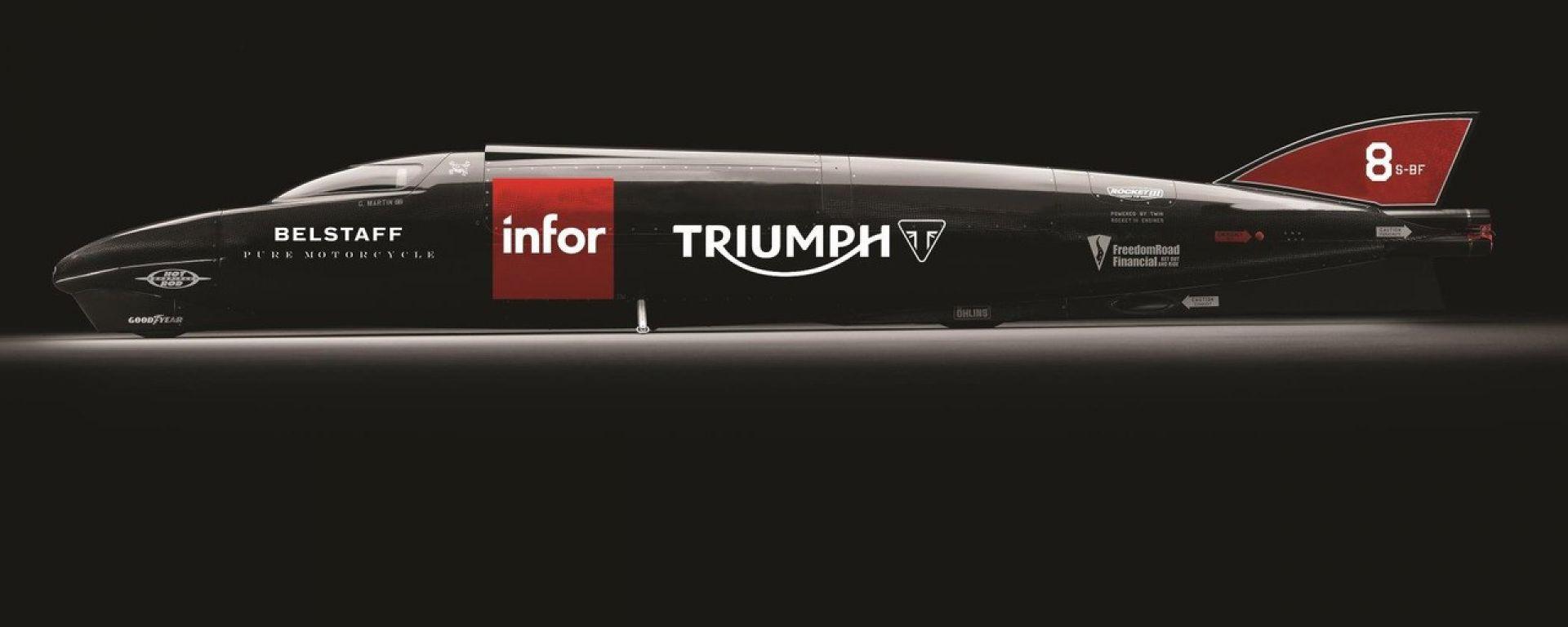 Triumph: Guy Martin tenterà il record sul Rocket Streamliner