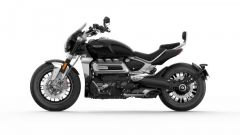 Triumph Rocket 3 GT 2019: la vista laterale