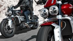 Triumph Rocket 3 GT e R 2019: le due moto da vicino