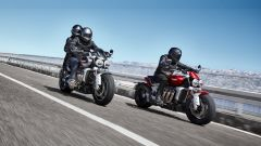Triumph Rocket 3 GT e R 2019: le due super cruiser su strada