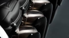 Triumph Rocket 3 TFC, dettaglio dei collettori di scarico
