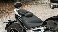 Triumph Rocket GT: lo schienalino del passeggero è regolabile