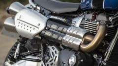 Triumph Scrambler 1200: lo scarico scalda parecchio