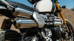 Triumph Scrambler 1.200 XE dettaglio scarico