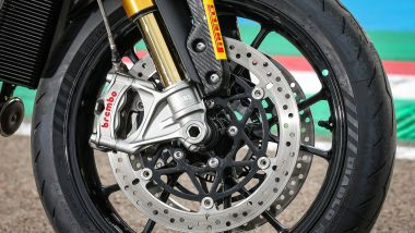 Triumph Speed Triple 1200 RS 2021 le pinze freno Brembo Stylema