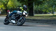Triumph Speed Triple RS 2019: in piega è stabile e precisa