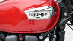 Triumph Speedmaster 2018: dettaglio del serbatoio