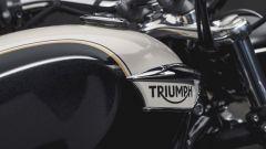 Triumph Speedmaster: dettaglio della verniciatura bicolore