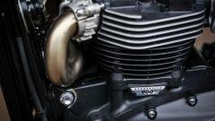Triumph Street Scrambler, l'alettatura sui cilindri